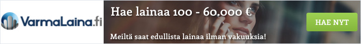 Hae lainaa kotimaisesta VarmaLaina.fi palvelusta!